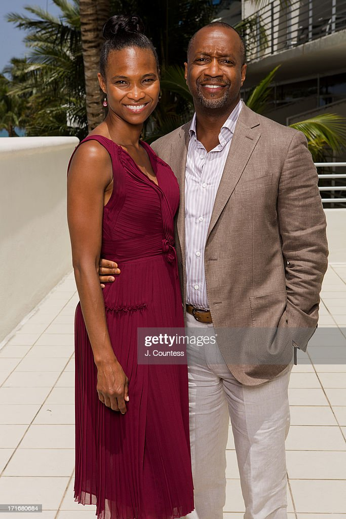Nicole Friday and American Black Film Festival founder Jeff Friday pose during the 2013 American Black Film Festival on June 21, 2013 in Miami, Florida.