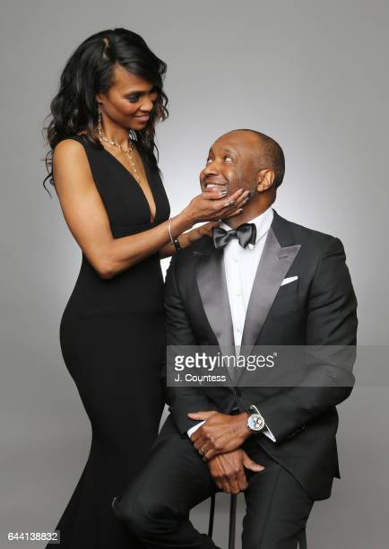 Nicole Friday and founder of ABFF Jeff Friday pose for a portrait for BET's 2017 American Black Film Festival Honors Awards at The Beverly Hilton...