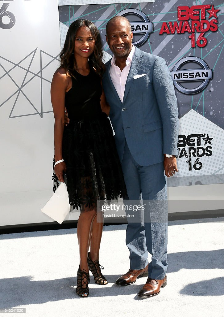 Nicole Friday (L) and producer Jeff Friday attend the 2016 BET Awards at Microsoft Theater on June 26, 2016 in Los Angeles, California.