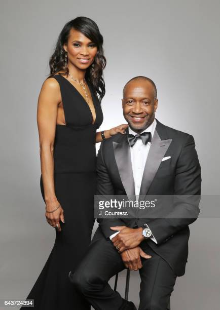 Nicole Friday founder of ABFF Jeff Friday pose for a portrait for BET's 2017 American Black Film Festival Honors Awards at The Beverly Hilton Hotel...