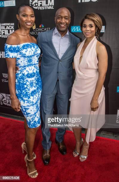 Nicole Friday Jeff Friday and Regina Hall attends 2017 American Black Film Festival on June 14 2017 in Miami Florida
