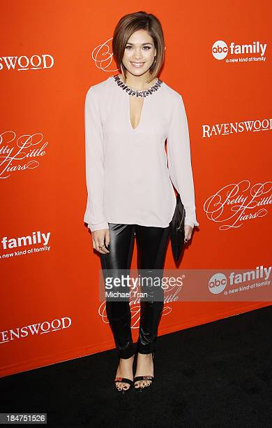 Nicole Gale Anderson arrives at the 'Pretty Little Liars' celebrates Halloween episode held at Hollywood Forever on October 15 2013 in Hollywood...