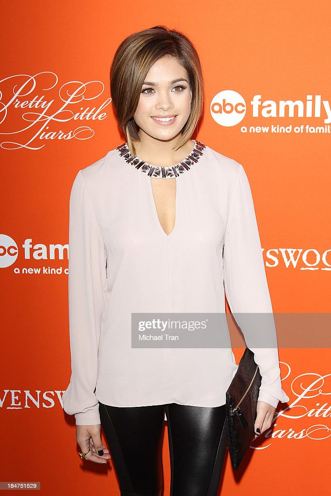 Nicole Gale Anderson arrives at the 'Pretty Little Liars' celebrates Halloween episode held at Hollywood Forever on October 15, 2013 in Hollywood, California.