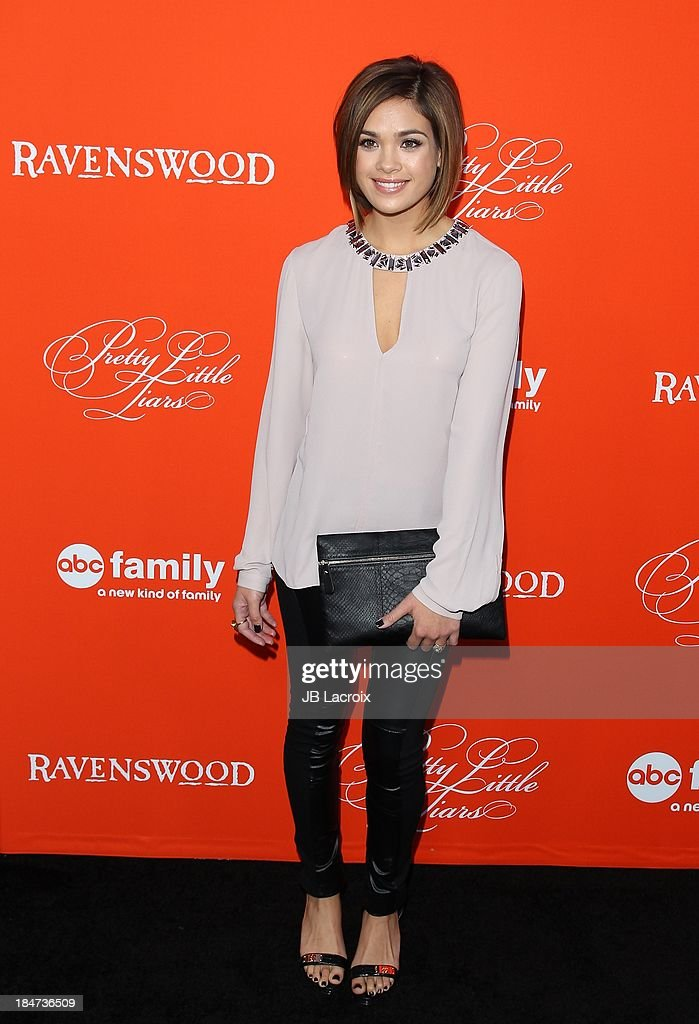 Nicole Gale Anderson attends the 'Pretty Little Liars' Special Halloween Episode Premiere Party held at Hollywood Forever on October 15, 2013 in Hollywood, California.