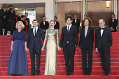 Nicole Garcia Alex Brendemuehl Marion Cotillard and Louis Garrel attend a screening of 'From The Land And The Moon ' at the annual 69th Cannes Film...