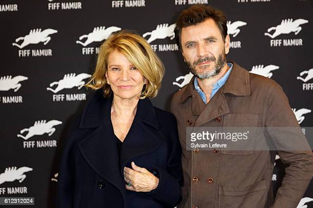 Nicole Garcia and Alex Brendemuhl attend 'Mal de pierres' film photocall during 31st Namur International FrenchLanguage Film Festival on October 3...