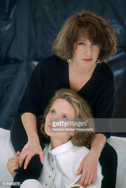 Nicole Garcia director of the film Un weekend sur deux poses in Paris with actress Nathalie Baye who stars in the film The French film was released...
