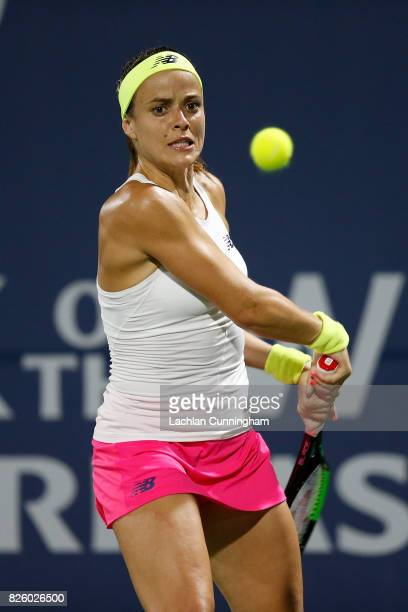 Nicole Gibbs of the United States competes against Claire Liu of the United States during day 1 of the Bank of the West Classic at Stanford...