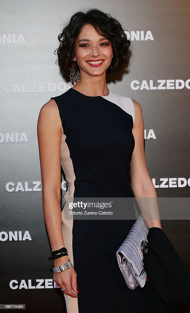Nicole Grimaudo attends Calzedonia Summer Show Forever Together on April 16, 2013 in Rimini, Italy.