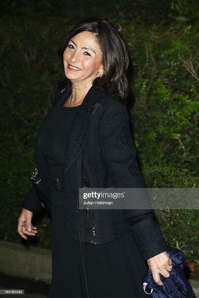 Nicole Guedj attends the 28th Dinner of 'Conseil Rrepresentatif Des Institutions Juives De France at Pavillon d'Armenonville on March 20, 2013 in Paris, France.