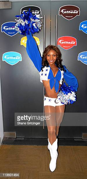 Nicole Hamilton of The Dallas Cowboy Cheerleaders during The Dallas Cowboys Cheerleaders Host Cocktail Reception to Celebrate the 2007 NFL Postseason...