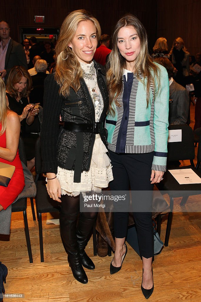 Nicole Hanley Mellon and Alexandra Lind Rose attend the Douglas Hannant Fall 2013 Collection during Mercedes-Benz Fashion Week at Dimenna Center for Classical Music on February 13, 2013 in New York City.