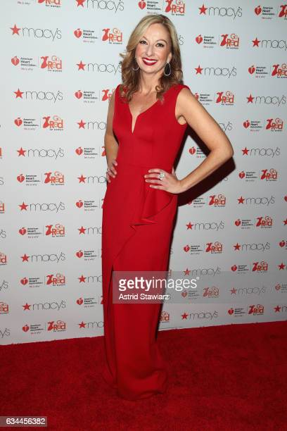 Nicole Hardy attends the American Heart Association's Go Red For Women Red Dress Collection 2017 presented by Macy's at Fashion Week in New York City...