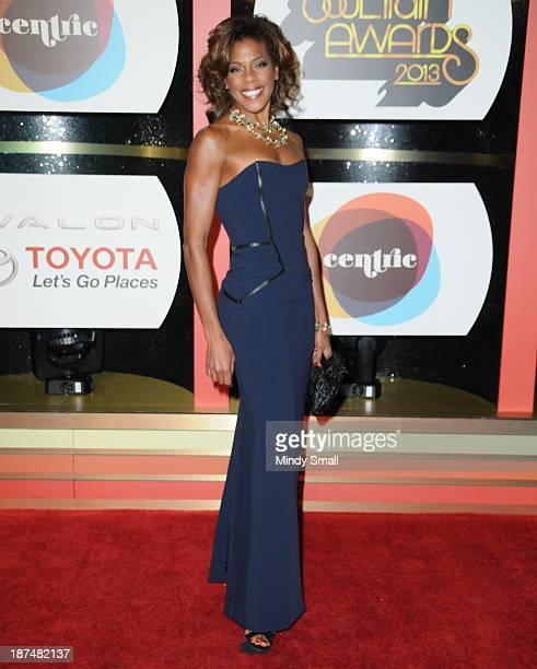 Nicole Henry arrives at the Soul Train Awards 2013 at the Orleans Hotel Casino on November 8 2013 in Las Vegas Nevada