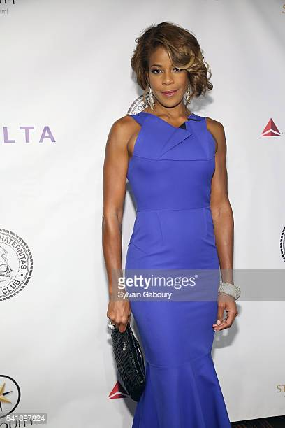 Nicole Henry attends as the Friars Club honors Tony Bennett with Entertainment Icon Award on the Legend's 90th Birthday at New York Sheraton Hotel...