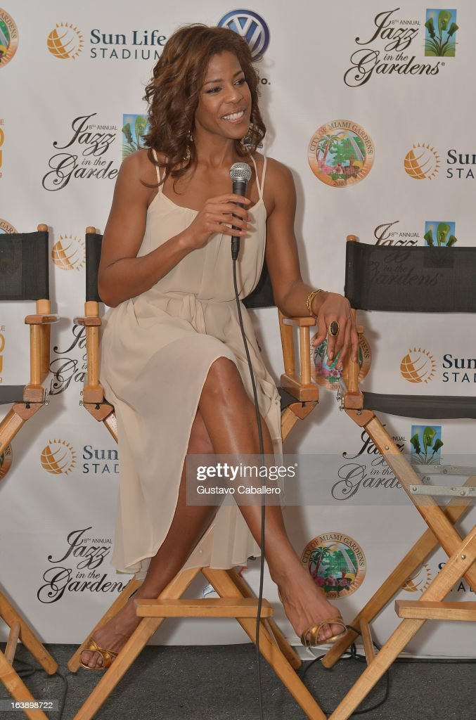 Nicole Henry attends the 8th Annual Jazz in the Gardens Day 2 at Sun Life Stadium presented by the City of Miami Gardens on March 17, 2013 in Miami Gardens, Florida.