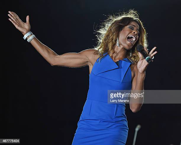 Nicole Henry performs onstage during the Miami Beach 100 Concert on March 26 2015 in Miami Beach Florida
