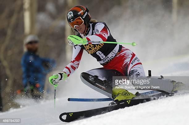 Nicole Hosp of Austria competes during the Audi FIS Alpine Ski World Cup Women's Slalom on November 30 2014 in Aspen Colorado