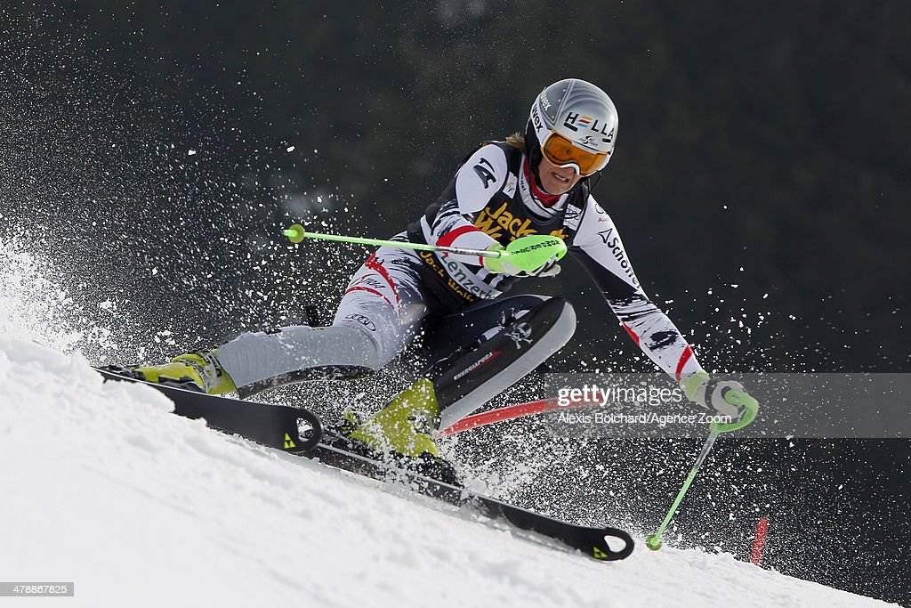 <a gi-track='captionPersonalityLinkClicked' href=/galleries/search?phrase=Nicole+Hosp&family=editorial&specificpeople=226750 ng-click='$event.stopPropagation()'>Nicole Hosp</a> of Austria competes during the Audi FIS Alpine Ski World Cup Finals Women's Slalom on March 15, 2014 in Lenzerheide, Switzerland.