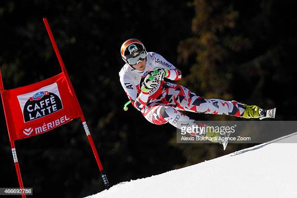 Nicole Hosp of Austria takes 3rd place during the Audi FIS Alpine Ski World Cup Finals Women's Downhill on March 18 2015 in Meribel France
