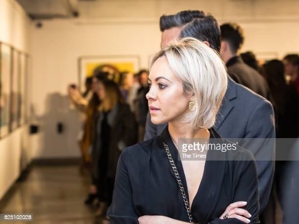Nicole Jacovides during the opening of the Andy Warhol exhibition at the Wits Art Museum on July 26 2017 in Johannesburg South Africa The exhibition...