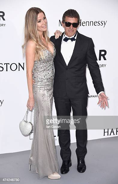 Nicole Kempel and Antonio Banderas attend amfAR's 22nd Cinema Against AIDS Gala Presented By Bold Films And Harry Winston at Hotel du CapEdenRoc on...