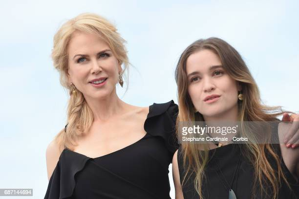 Nicole Kidman and Alice Englert attend the 'Top Of The Lake China Girl' photocall during the 70th annual Cannes Film Festival at Palais des Festivals...