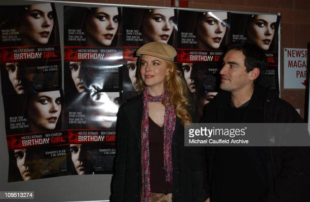 Nicole Kidman and Ben Chaplin during 2002 Sundance Film Festival 'Birthday Girl' Premiere at Eccles Center for the Performing Arts in Park City Utah...