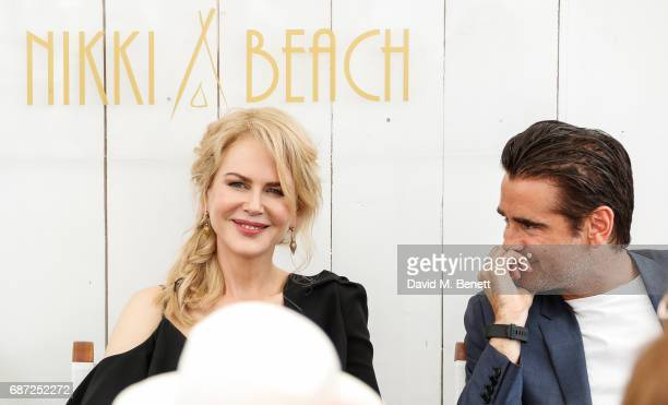 Nicole Kidman and Colin Farrell attend a photocall for the 'The Killing Of A Sacred Deer' during the 70th annual Cannes Film Festival at Nikki Beach...