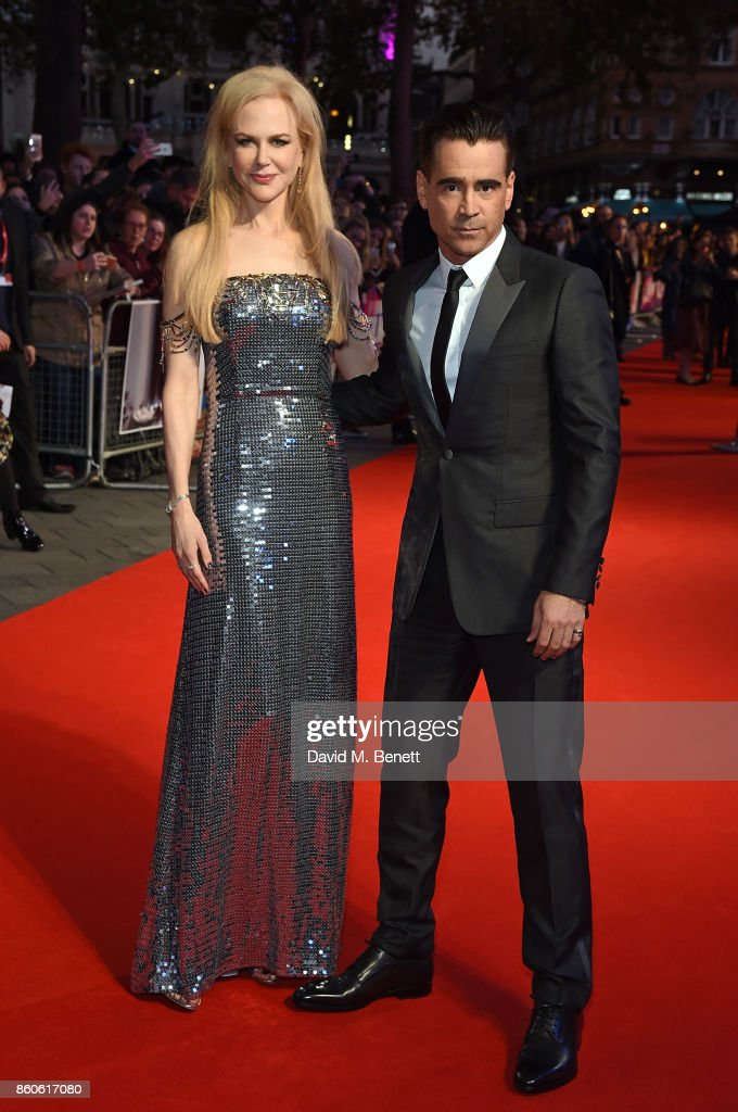 Nicole Kidman and Colin Farrell attend the Headline Gala Screening & UK Premiere of 'Killing of a Sacred Deer' during the 61st BFI London Film Festival on October 12, 2017 in London, England.