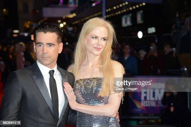 Nicole Kidman and Colin Farrell attend the Headline Gala Screening UK Premiere of 'Killing of a Sacred Deer' during the 61st BFI London Film Festival...