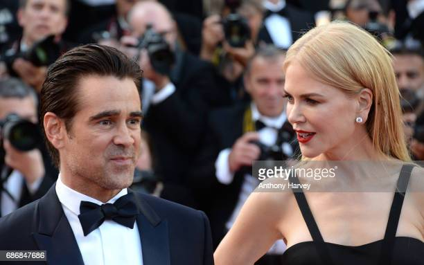 Nicole Kidman and Colin Farrell attend the 'The Killing Of A Sacred Deer' screening during the 70th annual Cannes Film Festival at Palais des...
