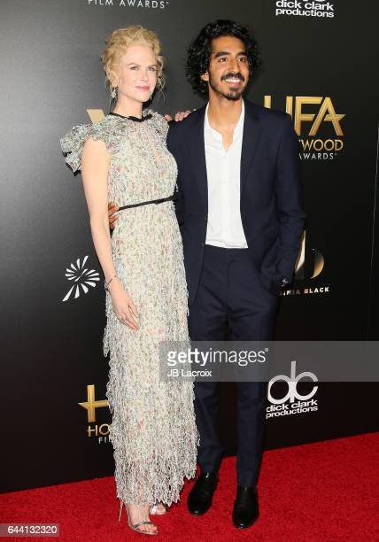 Nicole Kidman and Dev Patel attend the 20th Annual Hollywood Film Awards on November 6 2016 in Los Angeles California