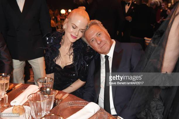 Nicole Kidman and Dustin Hoffman attend the amfAR Gala Cannes 2017 at Hotel du CapEdenRoc on May 25 2017 in Cap d'Antibes France