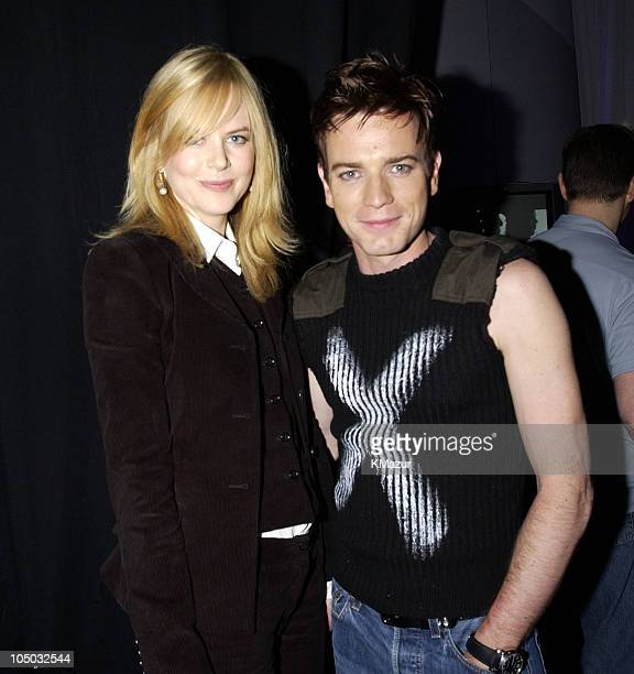 Nicole Kidman and Ewan McGregor during 2002 MTV Movie Awards Backstage and Audience at The Shrine Auditorium in Los Angeles California United States