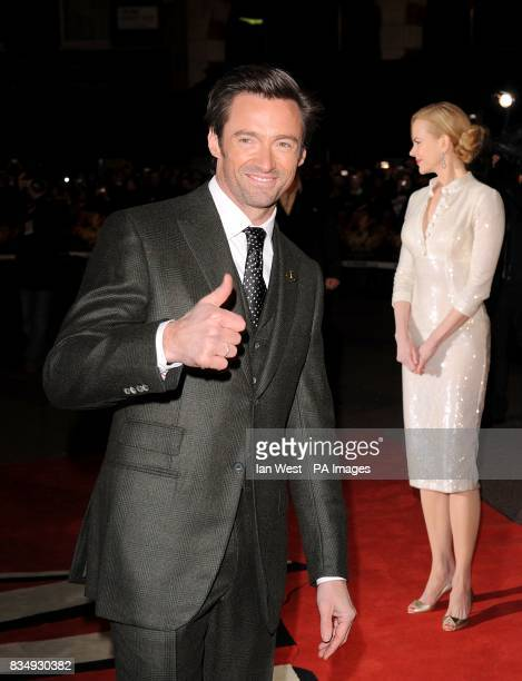 Nicole Kidman and Hugh Jackman arrive for the UK premiere of 'Australia' at the Odeon Leicester Square WC2