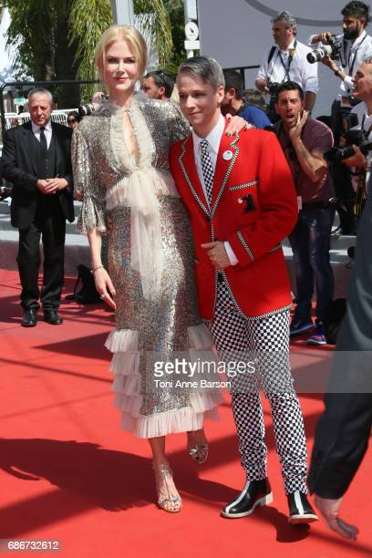 Nicole Kidman and John Cameron Mitchell attend the 'How To Talk To Girls At Parties' screening during the 70th annual Cannes Film Festival at Palais...