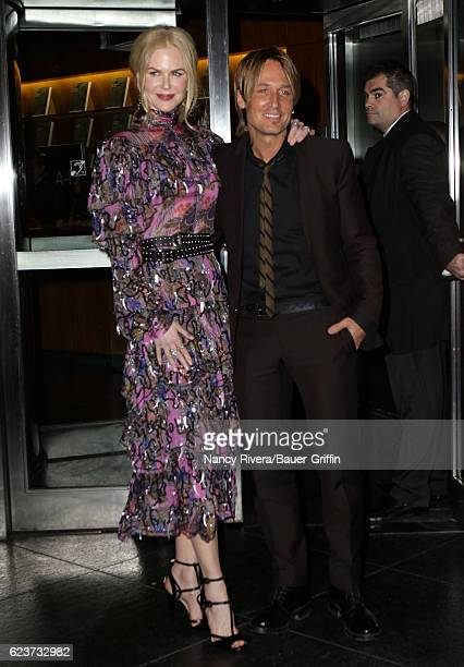 Nicole Kidman and Keith Urban are seen on November 16 2016 in New York City