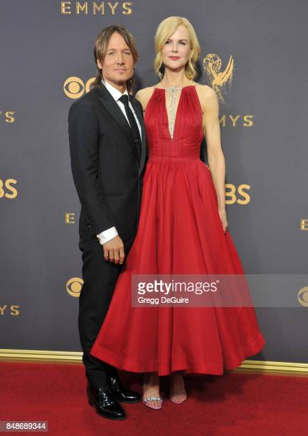 Nicole Kidman and Keith Urban arrive at the 69th Annual Primetime Emmy Awards at Microsoft Theater on September 17 2017 in Los Angeles California