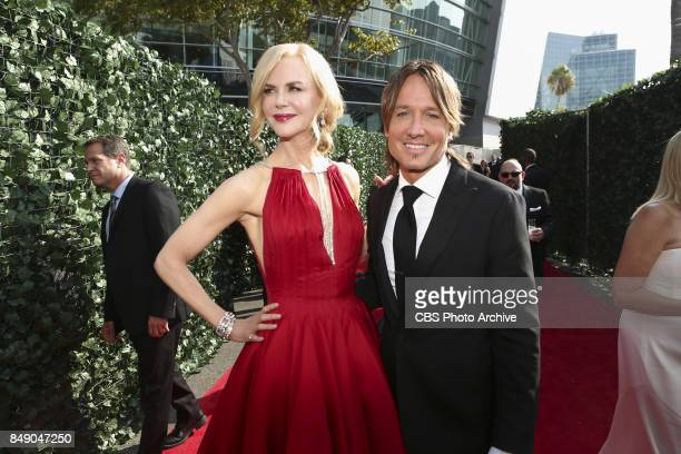 Nicole Kidman and Keith Urban arrive on the red carpet at the 69TH PRIMETIME EMMY AWARDS LIVE from the Microsoft Theater in Los Angeles Sunday Sept...