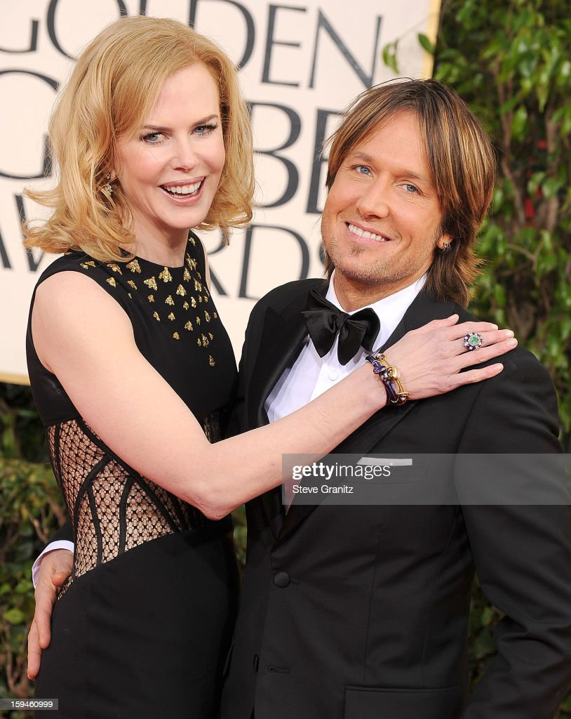 Nicole Kidman and Keith Urban arrives at the 70th Annual Golden Globe Awards at The Beverly Hilton Hotel on January 13, 2013 in Beverly Hills, California.