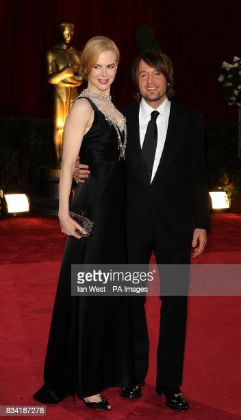 Nicole Kidman and Keith Urban arrives for the 80th Academy Awards at the Kodak Theatre Los Angeles