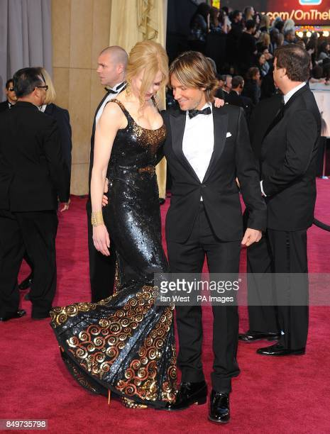 Nicole Kidman and Keith Urban arriving for the 85th Academy Awards at the Dolby Theatre Los Angeles