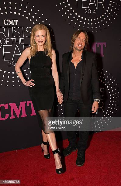 Nicole Kidman and Keith Urban attend 2014 CMT Artists Of The Year at Nashville Symphony Hall on December 2 2014 in Nashville Tennessee