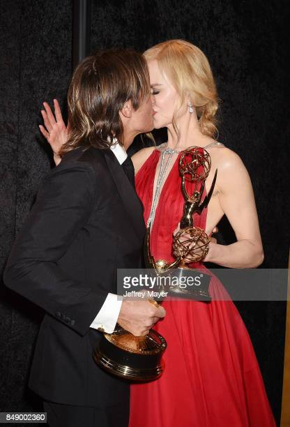 Nicole Kidman and Keith Urban attend HBO's Post Emmy Awards Reception at The Plaza at the Pacific Design Center on September 17 2017 in Los Angeles...
