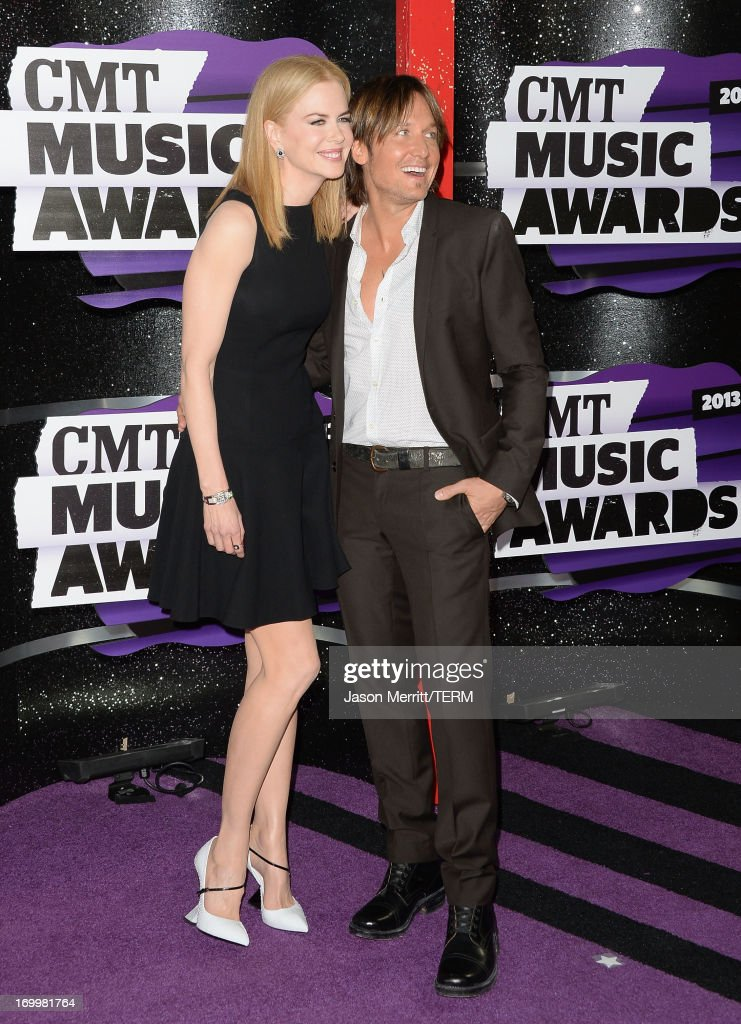 Nicole Kidman and Keith Urban attend the 2013 CMT Music awards at the Bridgestone Arena on June 5, 2013 in Nashville, Tennessee.