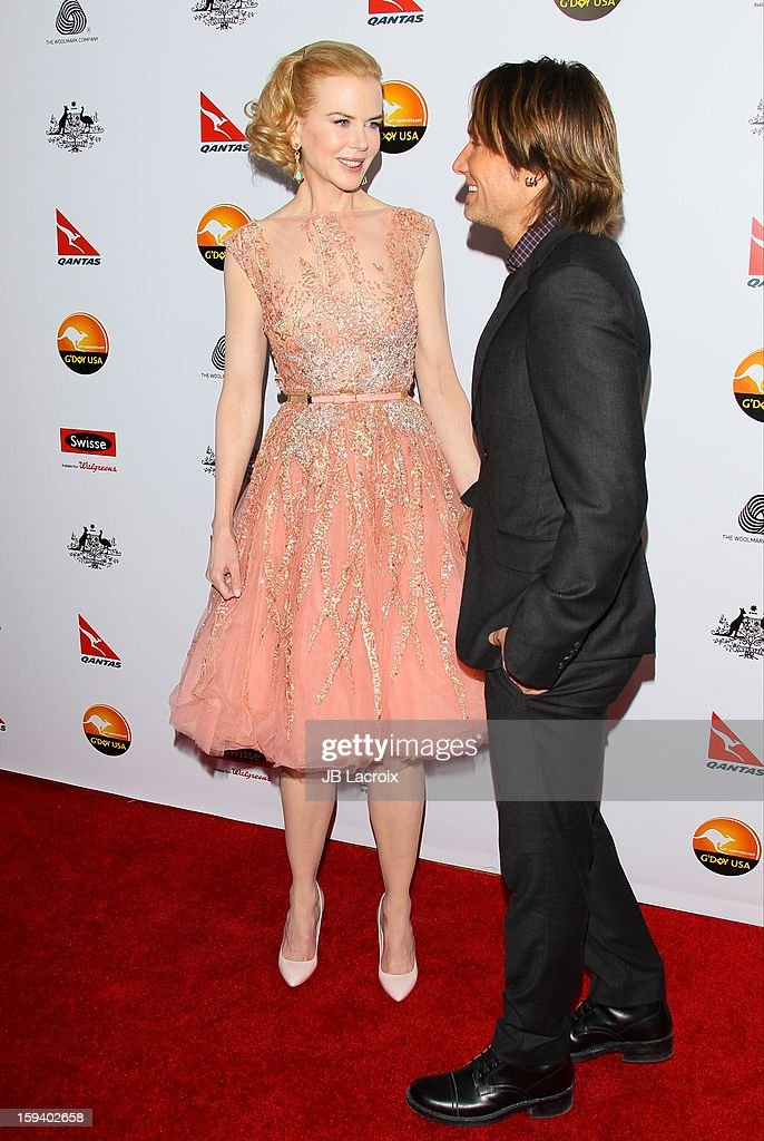 Nicole Kidman and Keith Urban attend the 2013 G'Day USA Black Tie Gala at JW Marriott Los Angeles at L.A. LIVE on January 12, 2013 in Los Angeles, California.