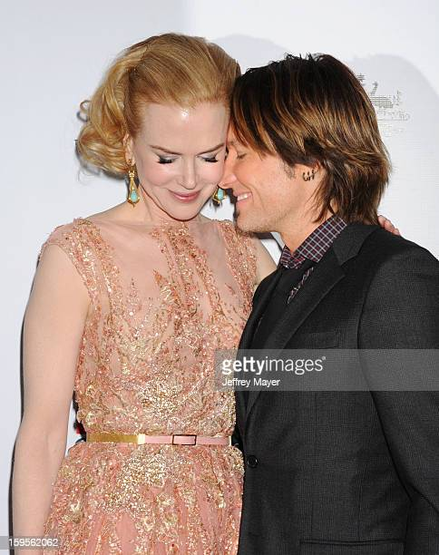 Nicole Kidman and Keith Urban attend the 2013 G'Day USA Black Tie Gala at JW Marriott Los Angeles at LA LIVE on January 12 2013 in Los Angeles...