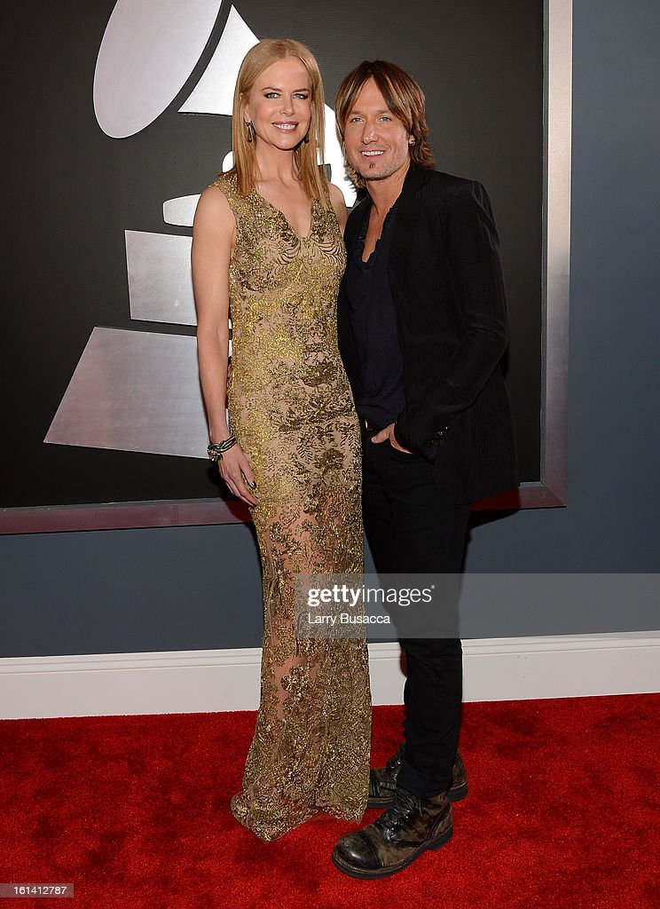 Nicole Kidman and Keith Urban attend the 55th Annual GRAMMY Awards at STAPLES Center on February 10, 2013 in Los Angeles, California.