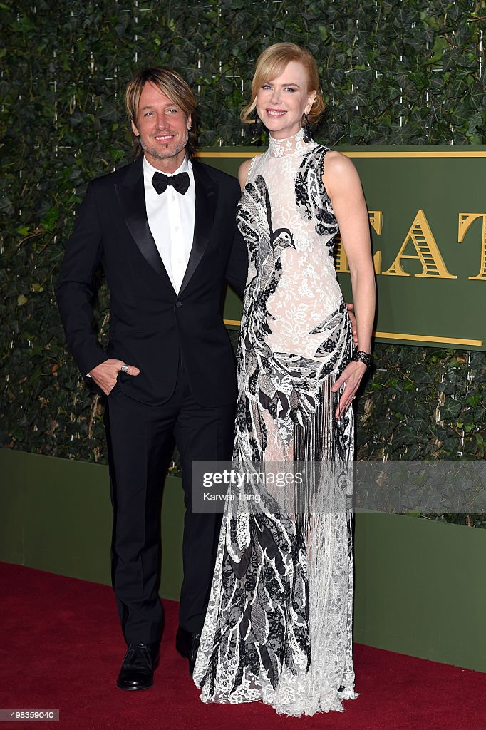 Nicole Kidman and Keith Urban attend the Evening Standard Theatre Awards at The Old Vic Theatre on November 22, 2015 in London, England.